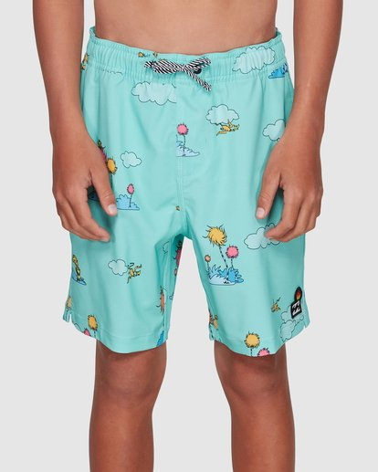 3 Dr. Seuss Lorax Sundays Layback Boardshorts Green 8508401 Billabong