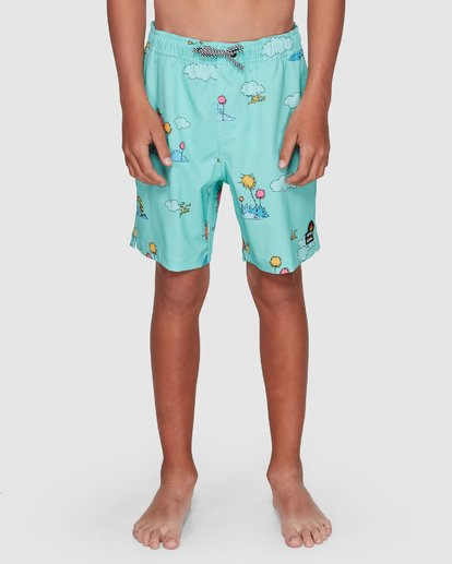 6 Dr. Seuss Lorax Sundays Layback Boardshorts Green 8508401 Billabong