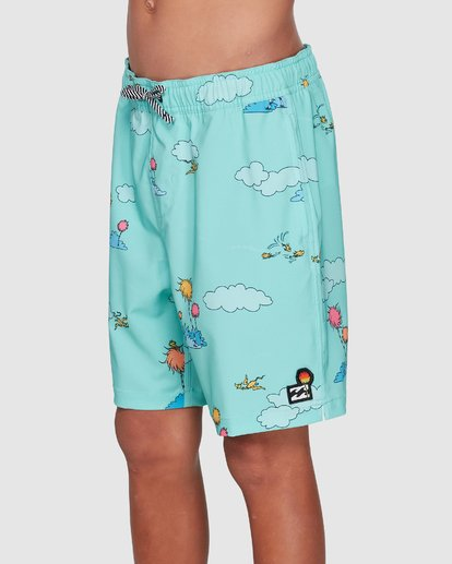 1 Dr. Seuss Lorax Sundays Layback Boardshorts Green 8508401 Billabong