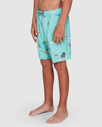 7 Dr. Seuss Lorax Sundays Layback Boardshorts Green 8508401 Billabong