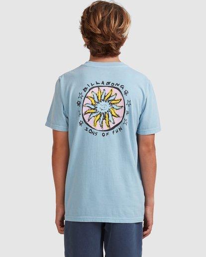 2 Boys 8-16 Sons Of Fun Short Sleeve Tee Blue 8513004 Billabong