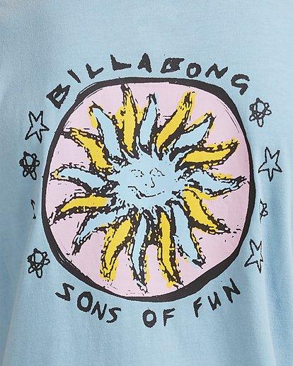 3 Boys 8-16 Sons Of Fun Short Sleeve Tee Blue 8513004 Billabong