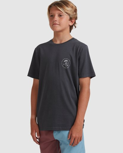 1 Boys 8-16 Sunken City Short Sleeve Tee Black 8513009 Billabong