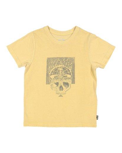 4 Boys 8-16 Medicine Short Sleeve Tee Yellow 8513010 Billabong