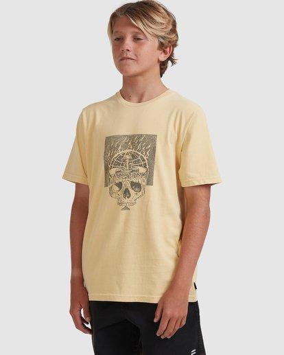 1 Boys 8-16 Medicine Short Sleeve Tee Yellow 8513010 Billabong
