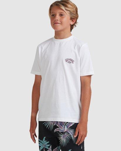 1 Boys 8-16 Tiger Waves Short Sleeve Tee White 8513014 Billabong