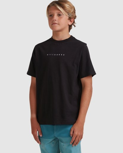 1 Boys 8-16 Smitty Short Sleeve Tee Black 8513015 Billabong