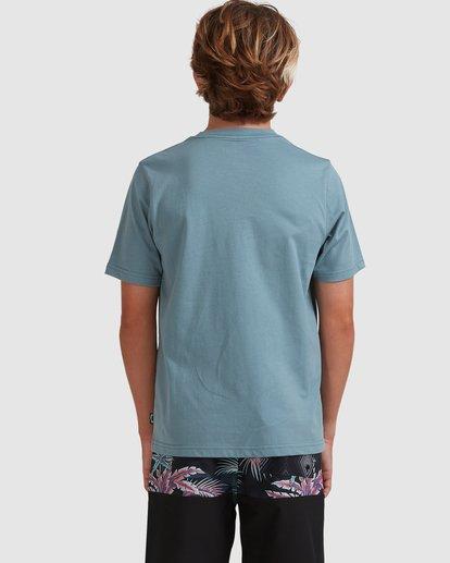 2 Boys 8-16 Puff Arch Short Sleeve Tee Blue 8513016 Billabong