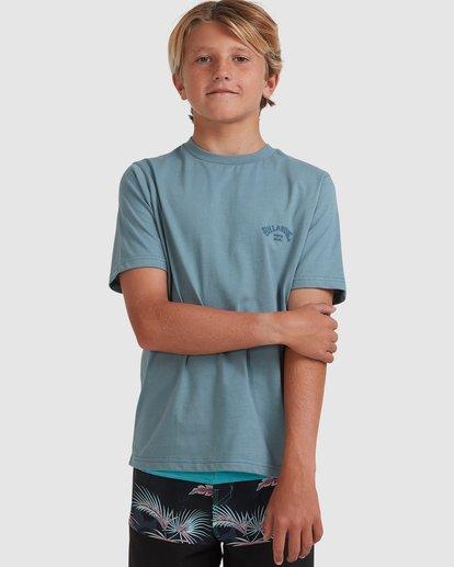 0 Boys 8-16 Puff Arch Short Sleeve Tee Blue 8513016 Billabong