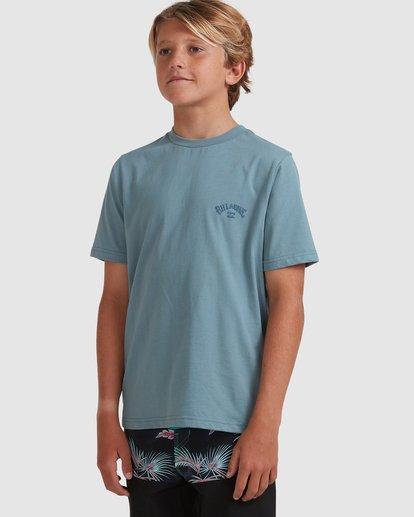 1 Boys 8-16 Puff Arch Short Sleeve Tee Blue 8513016 Billabong