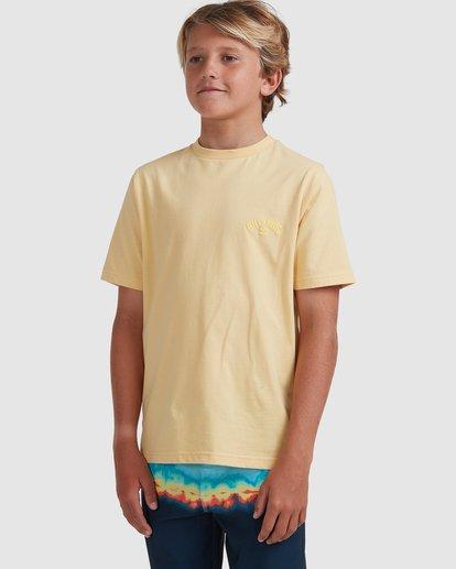 1 Boys 8-16 Puff Arch Short Sleeve Tee Yellow 8513016 Billabong
