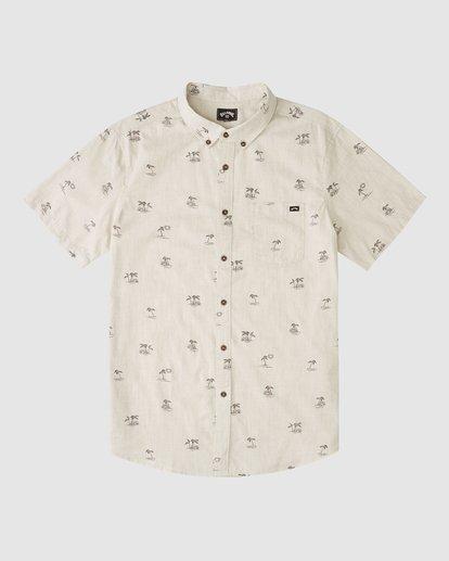 4 Boys 8-16 Sundays Mini Short Sleeve Shirt Beige 8513210 Billabong