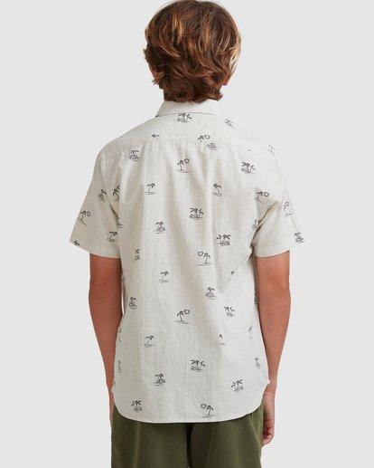 2 Boys 8-16 Sundays Mini Short Sleeve Shirt Beige 8513210 Billabong