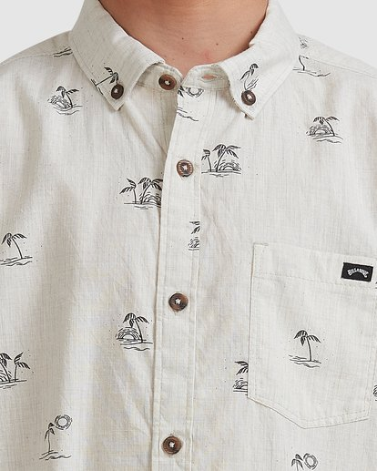 3 Boys 8-16 Sundays Mini Short Sleeve Shirt Beige 8513210 Billabong