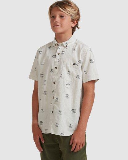 1 Boys 8-16 Sundays Mini Short Sleeve Shirt Beige 8513210 Billabong