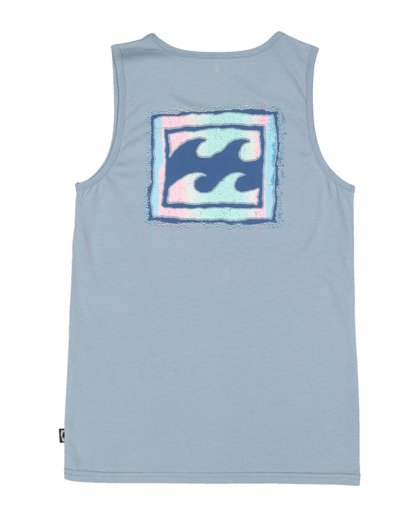 5 Boys 8-16 Crayon Wave Muscle Tank Blue 8513501 Billabong