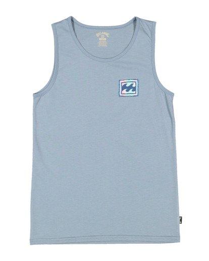 4 Boys 8-16 Crayon Wave Muscle Tank Blue 8513501 Billabong