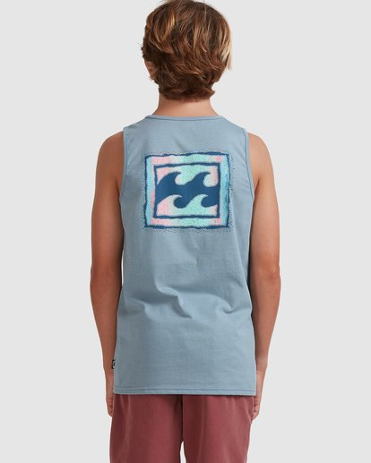 2 Boys 8-16 Crayon Wave Muscle Tank Blue 8513501 Billabong