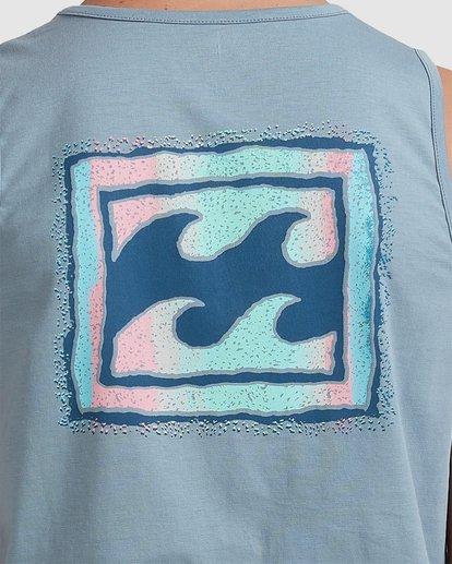 3 Boys 8-16 Crayon Wave Muscle Tank Blue 8513501 Billabong