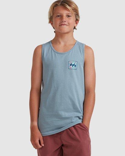 0 Boys 8-16 Crayon Wave Muscle Tank Blue 8513501 Billabong