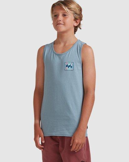 1 Boys 8-16 Crayon Wave Muscle Tank Blue 8513501 Billabong