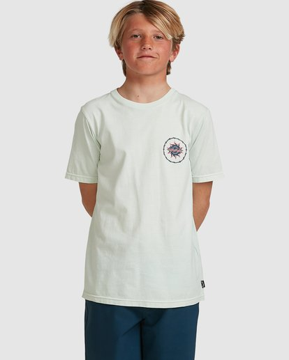 0 Boys Holey Moley Short Sleeve Tee Green 8517001 Billabong