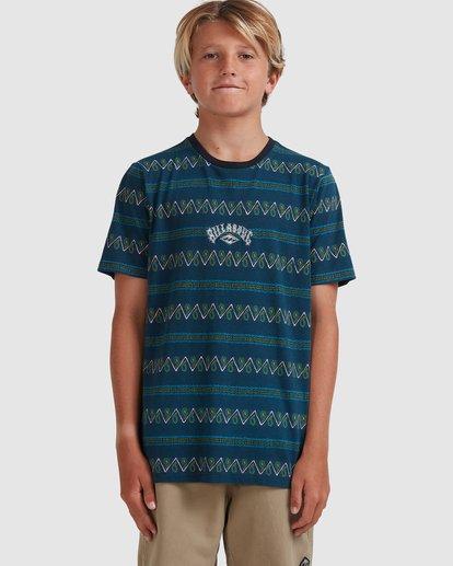 3 Boys 8-16 Full Rack Short Sleeve Tee Blue 8517003 Billabong