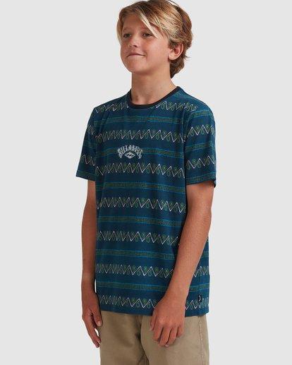 1 Boys 8-16 Full Rack Short Sleeve Tee Blue 8517003 Billabong