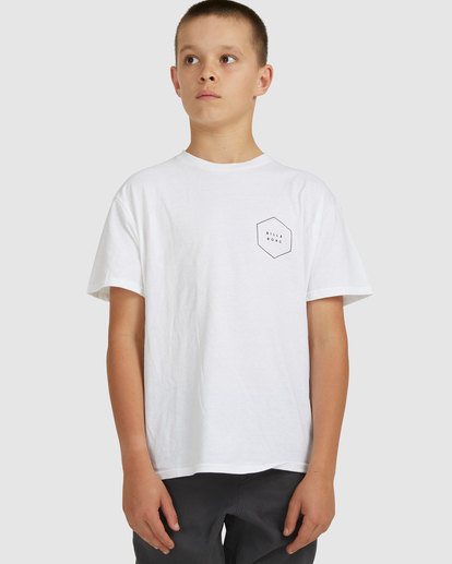 0 Boys 8-16 Access Boarder Short Sleeve Tee White 8517020 Billabong