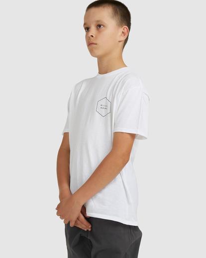 1 Boys 8-16 Access Boarder Short Sleeve Tee White 8517020 Billabong