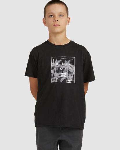 0 Boys 8-16 Stacked Short Sleeve Tee Black 8517023 Billabong