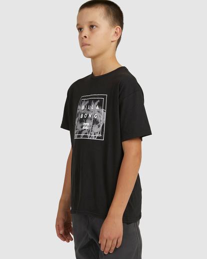 1 Boys 8-16 Stacked Short Sleeve Tee Black 8517023 Billabong
