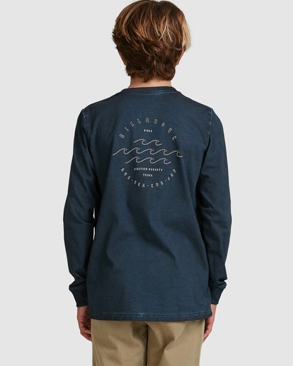 2 Boys Big Wave Dave Long Sleeve Tee Blue 8517170 Billabong