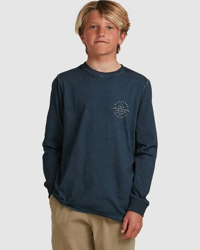 0 Boys Big Wave Dave Long Sleeve Tee Blue 8517170 Billabong