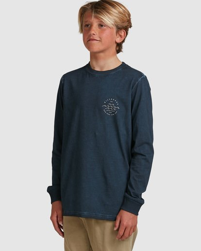 1 Boys Big Wave Dave Long Sleeve Tee Blue 8517170 Billabong