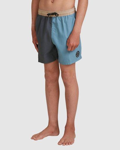 1 Boys Interchange Layback Boardshorts Grey 8517435 Billabong