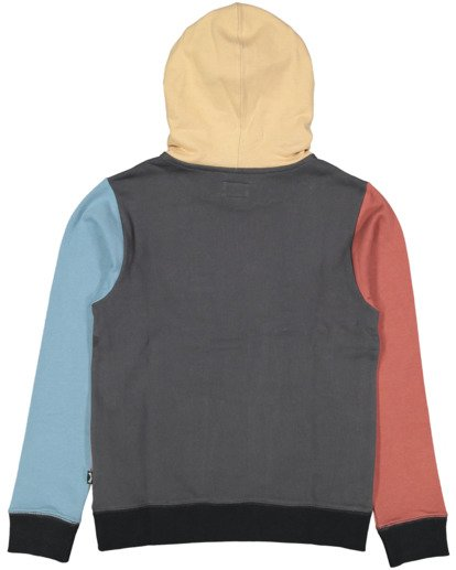 5 Boys Colour Block Pop Hoodie Grey 8517617 Billabong