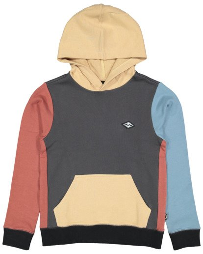 4 Boys Colour Block Pop Hoodie Grey 8517617 Billabong