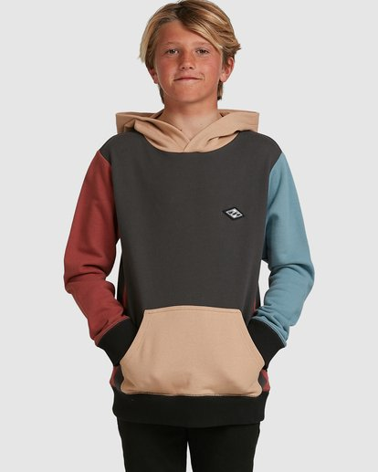 0 Boys Colour Block Pop Hoodie Grey 8517617 Billabong