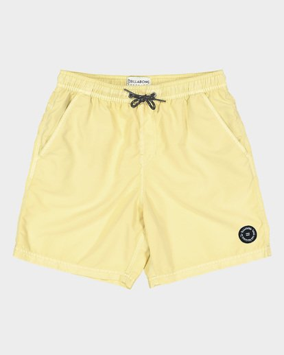 3 TEEN ALL DAY OVERDYE LAYBACK BOARDSHORT Yellow 8572439 Billabong