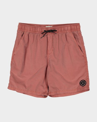3 Boys All Day Overdye Layback Boardshorts Red 8572439 Billabong