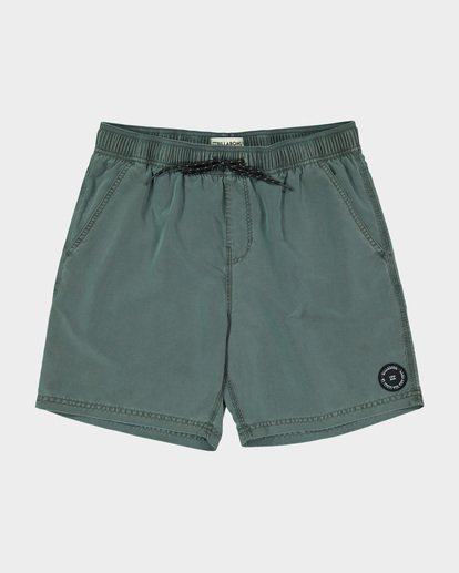 3 Boys All Day Overdye Layback Boardshorts Green 8572439 Billabong