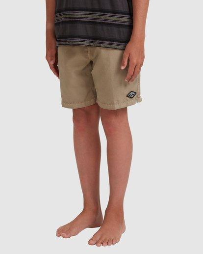 1 Boys All Day Overdye Layback Boardshorts Beige 8572439 Billabong