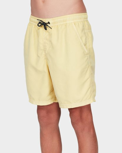 1 Boys All Day Overdye Layback Boardshorts Yellow 8572439 Billabong