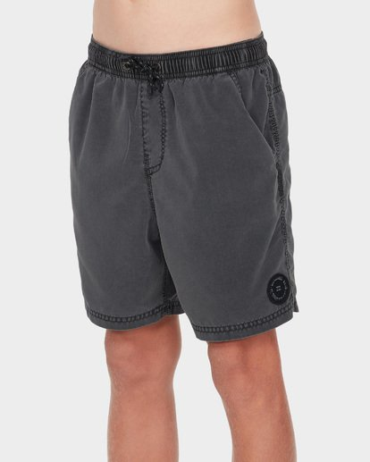 1 TEEN ALL DAY OVERDYE LAYBACK BOARDSHORT Black 8572439 Billabong