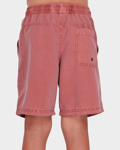 2 Boys All Day Overdye Layback Boardshorts Red 8572439 Billabong