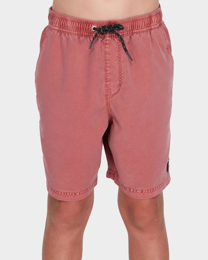 0 Boys All Day Overdye Layback Boardshorts Red 8572439 Billabong