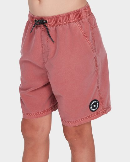 1 Boys All Day Overdye Layback Boardshorts Red 8572439 Billabong