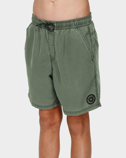 1 BOYS ALL DAY OVERDYE LAYBACK BOARDSHORTS Green 8572439 Billabong