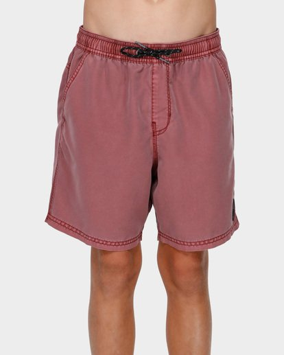 0 BOYS ALL DAY OVERDYE LAYBACK BOARDSHORTS Pink 8572439 Billabong